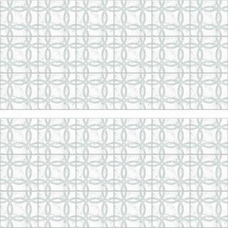 Stickers mosaïque blanc