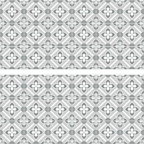 Stickers mosaïque gris faïence