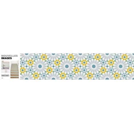 Stickers motif azulejos 98 x 19.5 cm (Lot de 3) - Vert