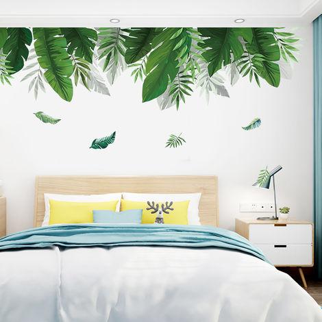 Stickers muraux bricolage plage feuilles de palmier Autocollant