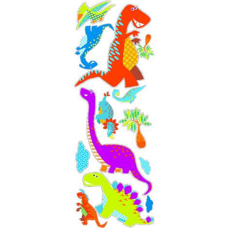 Stickers Muraux Dinos Multicolore 25 X 70 Cm Dinosaures