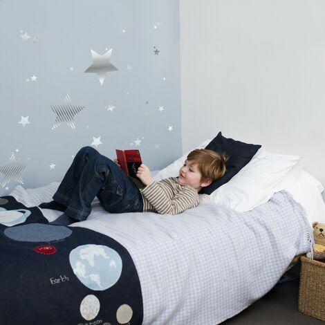 Stickers Muraux Étoiles Argent 25 X 70 Cm Étoiles