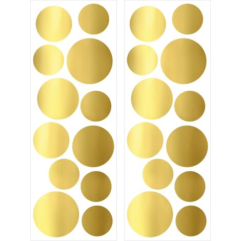 Stickers Muraux Gold Or 25 X 70 Cm Cercles