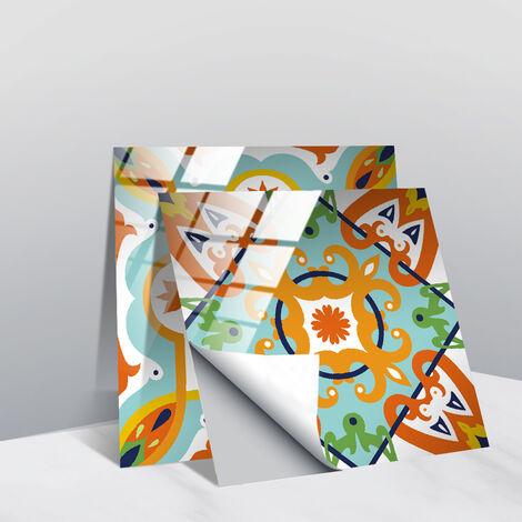 Stickers muraux gris et blancs autocollants de carreaux adhésifs carrés plats de 10x10 cm avec motifs de carrelage(20 pcs 10*10cm TS255)