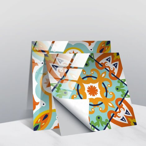Stickers muraux gris et blancs autocollants de carreaux adhésifs carrés plats de 10x10 cm avec motifs de carrelage(20 pcs 20x20cm TS255)
