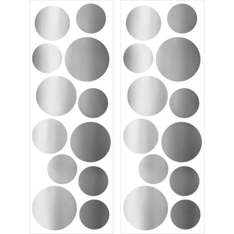 stickers muraux Pois Silver 25 x 70cm Argent