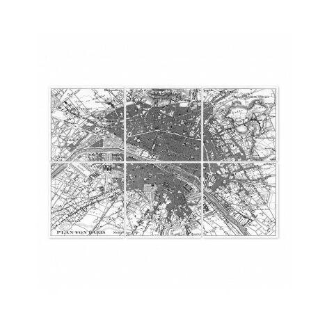 """main image of """"Stickers pour Carrelage Noir et Transparent Paris - Set de 6 - Noir"""""""