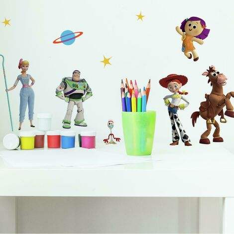 Stickers repositionnables Toy Story 4 PIXAR - 3,05 cm, 3,3 cm by 17,78 cm, 23,37cm