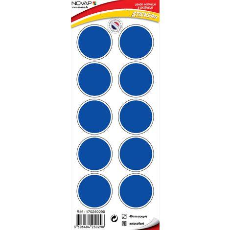 Stickers Rond bleu - Novap
