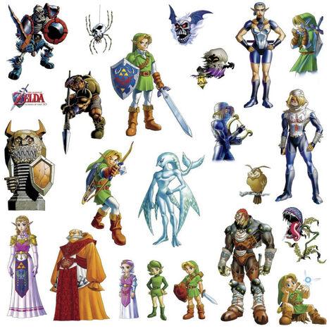 Stickers Zelda 3D - modèle Ocarina of Time