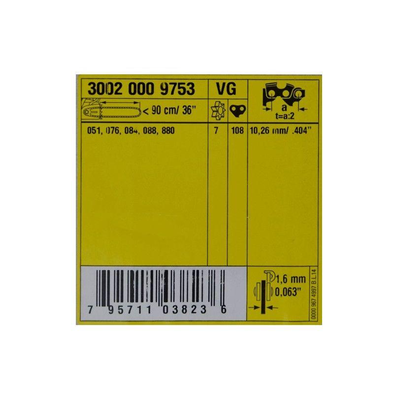 """Stihl Führungsschiene 3002 000 9753 Rollomatic ES 90cm .404/"""" 1,6mm 1 Kette"""