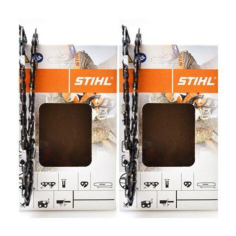 Stihl Halbmeißelsägeketten 2 Stück 3636 000 0050 PM 3 3/8'P 1,3mm 50 Glieder 35cm 63 PM3