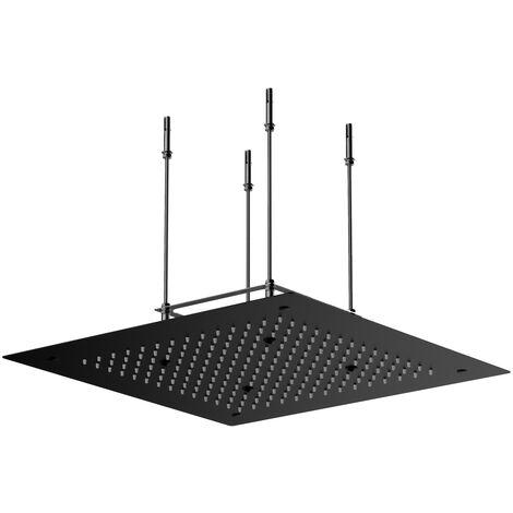 Stilform Design Unterputz Regendusche 50x50 aus Edelstahl in Schwarz Matt