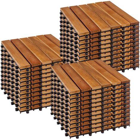 """main image of """"STILISTA® Lot de 33 dalles en bois d'acacia classique"""""""