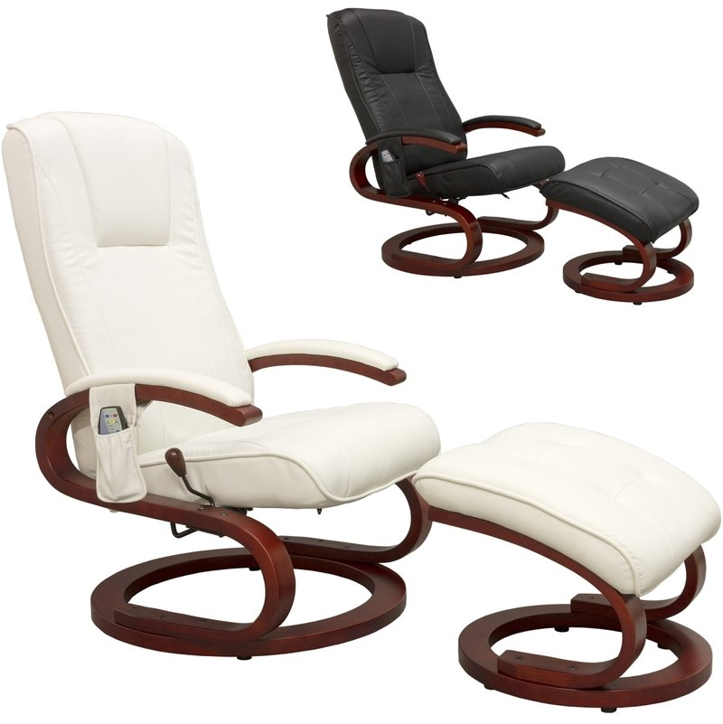 STILISTA® Massagesessel, Sessel + Hocker, Reinweiß