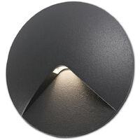 Stilvolle Einbauleuchte Uve aus Aluminium in dunkel grau, IP44 EEK A [Spektrum A++ bis E]