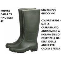 Stivali in PVC impermeabili antiscivolo pioggia calosce gomma CACCIA PESCA a3608f3fc23