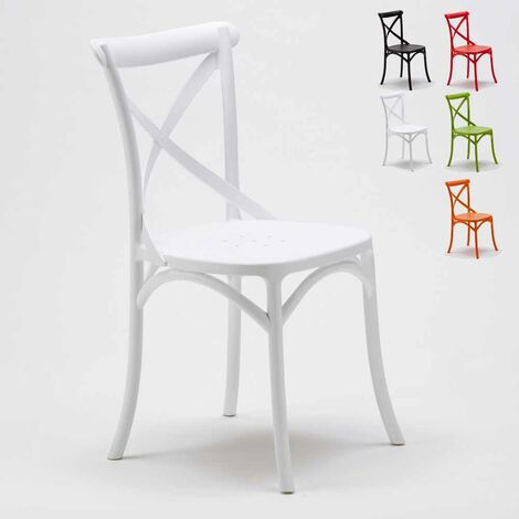 Stock 20 chaises restaurant bar polypropylène VINTAGE brasserie