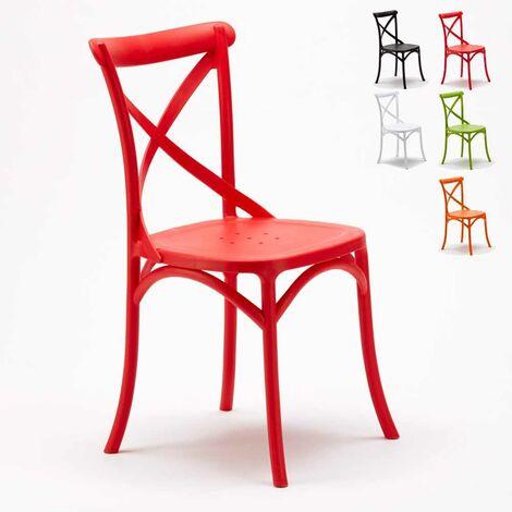 "main image of ""Stock 20 chaises restaurant bar polypropylène Vintage brasserie"""