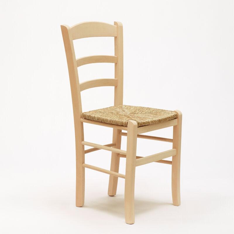 Stock 20 Sedie PAESANA in legno e seduta impagliata per cucina e trattoria  rustica