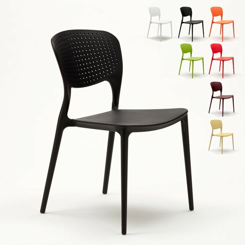 Sedie In Polipropilene Colorate.Stock 20 Sedie Polipropilene Colorate Impilabile Garden Giulietta