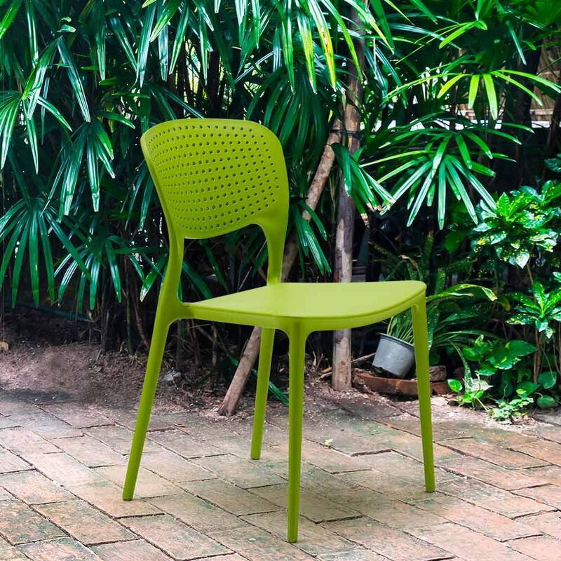 Stock 20 sedie polipropilene colorate impilabile GARDEN GIULIETTA bar ristorante gelateria