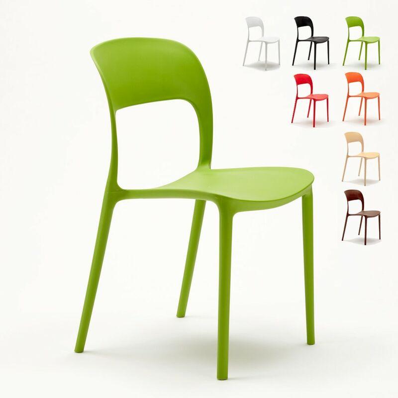 Lot de 24 Chaises pour restaurant et bar en polypropylène   Vert
