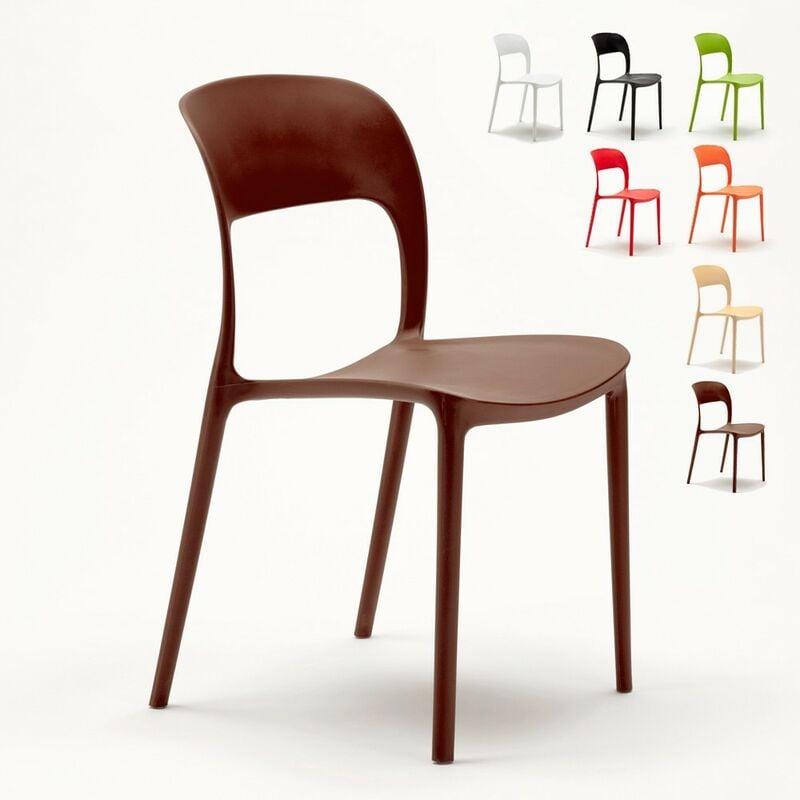 Lot de 24 Chaises pour restaurant et bar en polypropylène | Marron