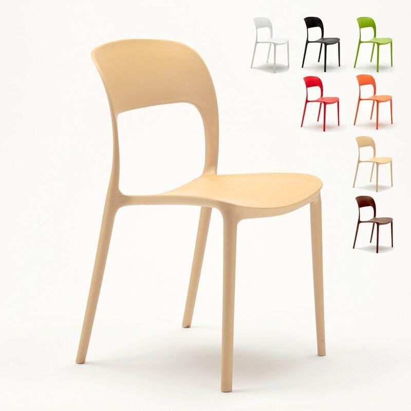 Lot de 24 Chaises pour restaurant et bar en polypropylène | Beige