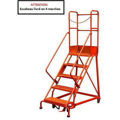 Stockman - Escabeau de sécurité immobilisation automatique 4 marches - RLC354