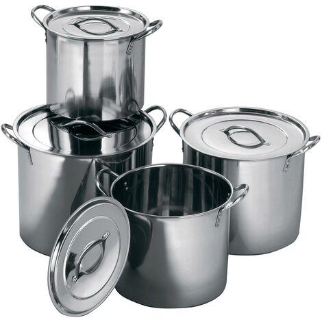 Stockpot,Set of 4,Stainless Steel