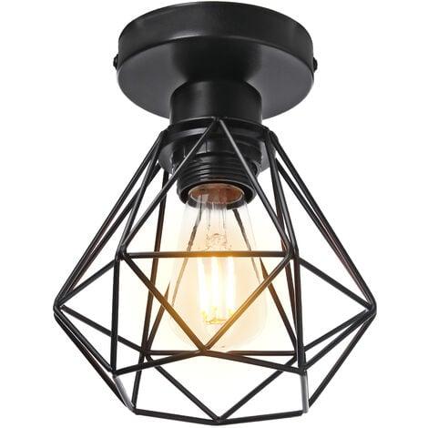 """main image of """"STOEX Plafonnier Industriel en Métal, Suspension Luminaire Style Vintage Design forme Cage Diamant Rétro pour Salon Chambre Salle à manger(sans ampoule)(x1)"""""""