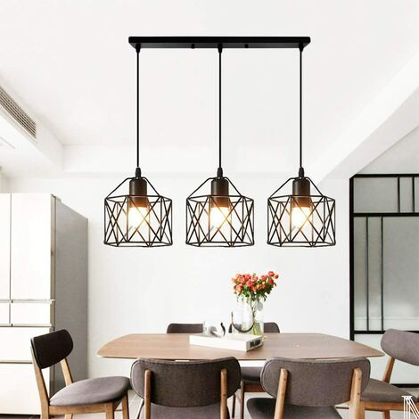 stoex suspension industrielle vintage lampe lustre abat. Black Bedroom Furniture Sets. Home Design Ideas