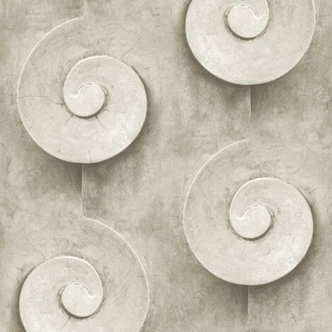 Stone Effect Swirl Wallpaper Muriva Grey Industrial Paste The Wall