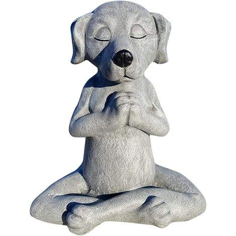 "main image of ""Stone Garden Tatue, Dog Buddha Ornament, Outdoor Meditation Dog Statue, Meditation Dog Statue for Home Decoration, Outdoor Art"""