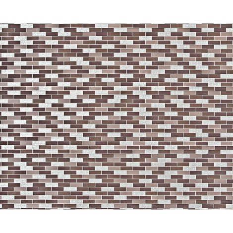 Stone mosaic paste the wall wallpaper XXL EDEM 991-36 nonwoven hot embossed rectangular tiles metallic ornaments brown taupe silver 10.65 m2