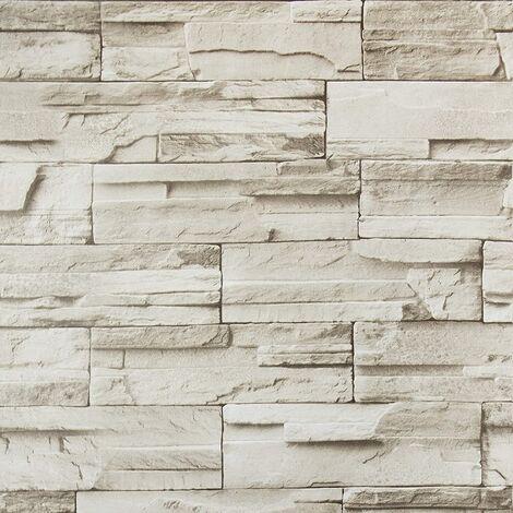 "main image of ""Stone Peel and Stick Wallpaper Self Adhesive Wallpaper 17.7 ×196.8 Brick Removable Wallpaper Stick and Peel Faux Stone Brick Wall Paper for Kitchen Contact Paper Backsplash Room Decorative Vinyl Film"""