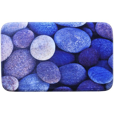Stone Print Bath Rug Non-Slip Doormat Welcome Floor Mats