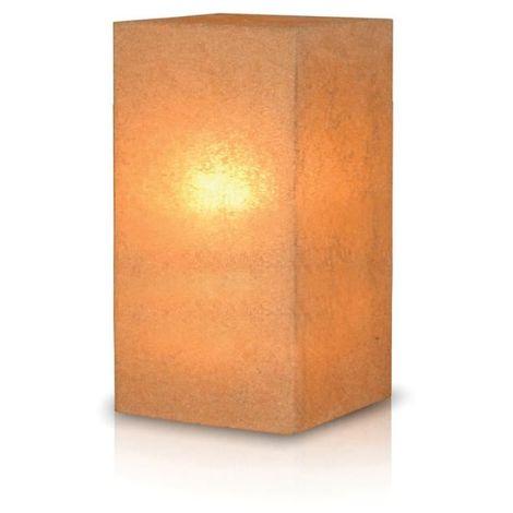 Stone Tall Pedestal Lamp