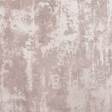 Stone Textures Distressed Concrete Wallpaper Pink Industrial Metallic Textured Vinyl