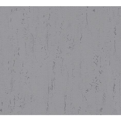 Stone tile wallpaper wall Profhome 364319-GU non-woven wallpaper slightly textured unicoloured matt grey 5.33 m2 (57 ft2)