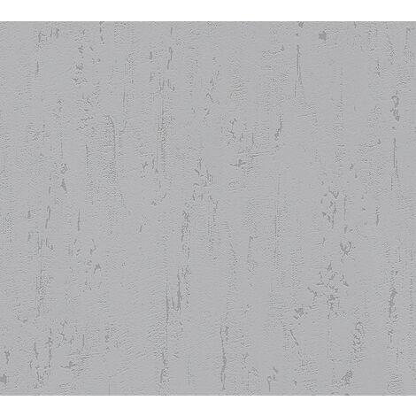 Stone tile wallpaper wall Profhome 364326-GU non-woven wallpaper slightly textured unicoloured matt grey 5.33 m2 (57 ft2)