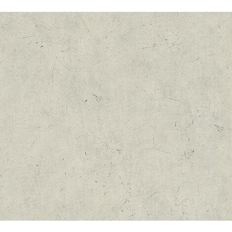 Stone tile wallpaper wall Profhome 952591-GU non-woven wallpaper slightly textured unicoloured matt beige 5.33 m2 (57 ft2)
