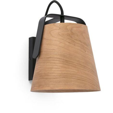 8deaa3dd STOOD Aplique de pared - Negro y madera - 29844