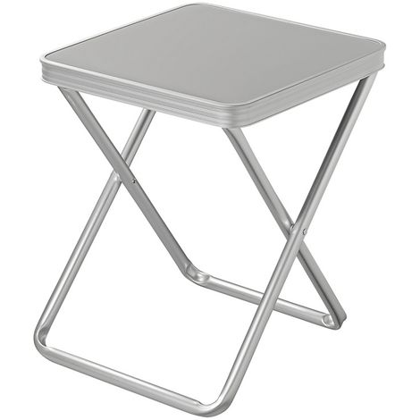 Stool foldable with table top