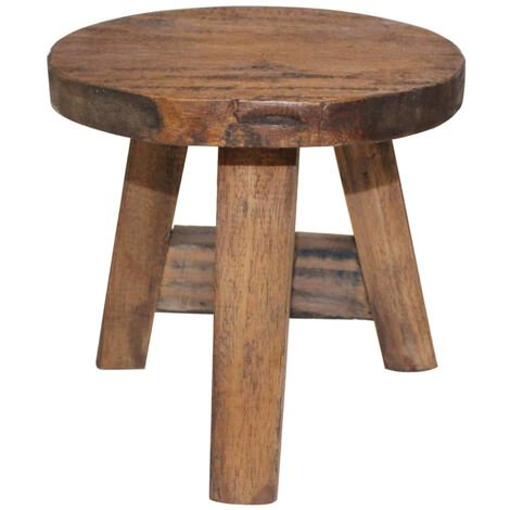 Stool Solid Reclaimed Wood 20x20x23 cm