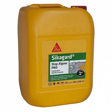 Stop algues PRO Sikagard - algicide fongicide Bidon 5L ou 20L: toiture, terrasse, extérieur... SIKA - plusieurs modèles disponibles