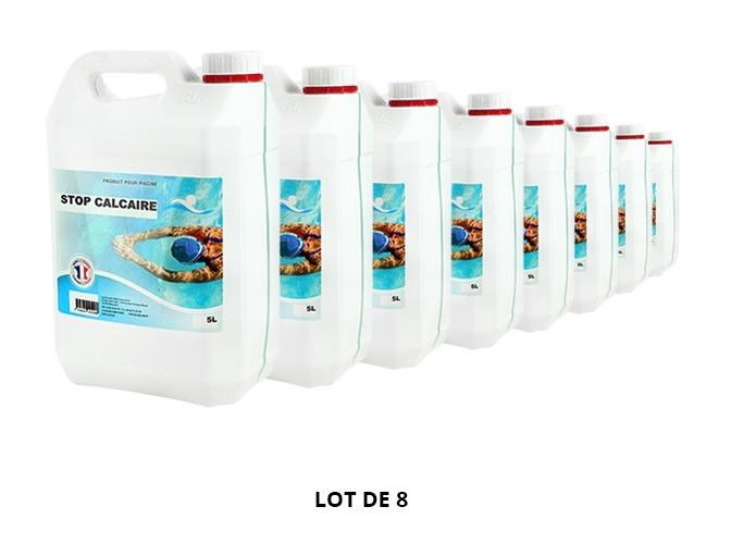 Stop calcaire - 8x5L de Anti-calcaire - Swimmer