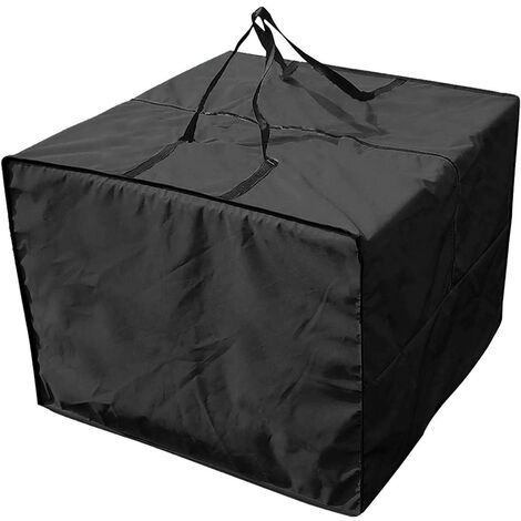 """main image of """"Storage bag and protective cover for lounge cushions, garden furniture, sofa cushion, waterproof bag, furniture mat, storage bag, square, waterproof, resistant, 81 cm x 81 cm x 61 cm"""""""