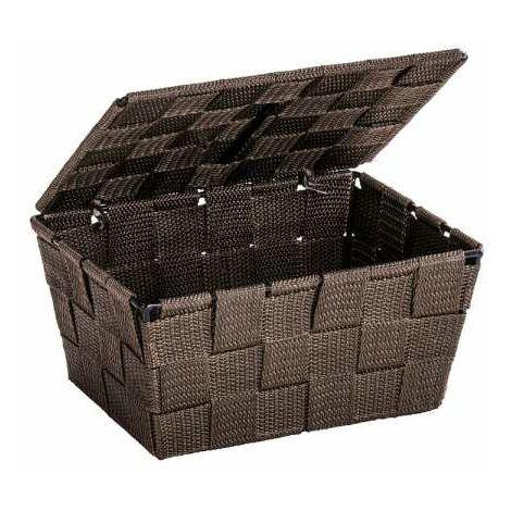 Storage basket Adria Brown with lid WENKO